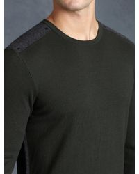 John Varvatos | Green Ls Crewneck Sweater for Men | Lyst