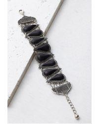 Forever 21 | Metallic Spade-shaped Faux Stone Bracelet | Lyst