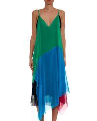 Marques'Almeida | Green Patchwork Silk Dress | Lyst