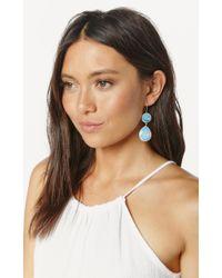 Planet Blue | Blue Double Drop Earrings | Lyst