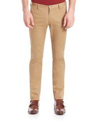 BOSS - Natural Rice Slim-fit Pants for Men - Lyst