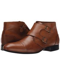 Massimo Matteo - Brown Double Monk Cap Toe Boot for Men - Lyst