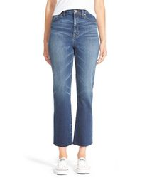 Madewell - Blue 'high Riser' Crop Flare Jeans - Lyst