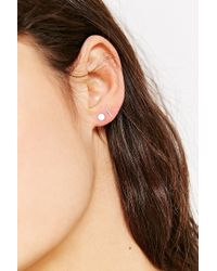 Kathleen Whitaker - Metallic X Uo Sterling Silver Staple Stud Earring - Lyst