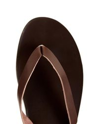 Ancient Greek Sandals - Brown Hero Leather Flip-Flops for Men - Lyst
