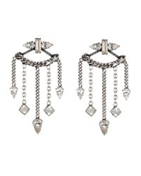 DANNIJO | Metallic Coley Crystal Chandelier Earrings | Lyst
