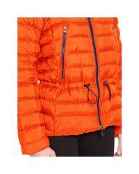 Ralph Lauren | Orange Mockneck Down Jacket | Lyst