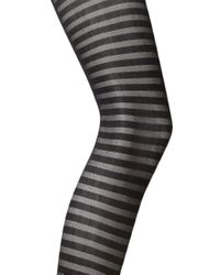 Forever 21 - Black Striped Sheer Tights - Lyst
