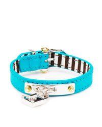 Henri Bendel | Blue Henri Charms Strap Bracelet | Lyst