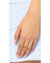 Michael Kors - Metallic Statement Tribal Ring - Gold - Lyst