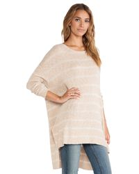 Free People - Natural Shipping News Tunic Sweater - Lyst