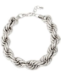 Robert Lee Morris - Metallic Silver-tone Rope-style Necklace - Lyst