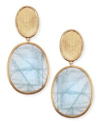 Marco Bicego - Blue 18K Gold Aquamarine Drop Earrings - Lyst