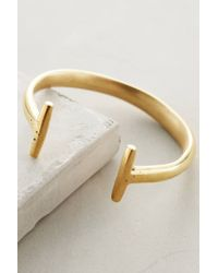 Anthropologie | Metallic Channel Cuff | Lyst