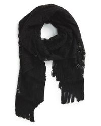 Glint - Black Lace Layered Evening Wrap - Lyst