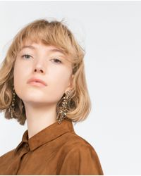 Zara | Multicolor Long Jewelled Earrings | Lyst