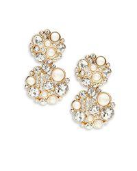 kate spade new york | Metallic Pick A Pearl Drop Earrings | Lyst