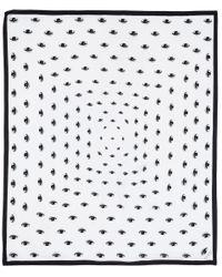 KENZO | White Eye Print Modal-Cashmere Blend Scarf | Lyst
