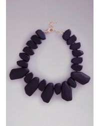 Bebe | Black Resin Stone Necklace | Lyst