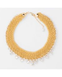 Paul Smith | Metallic Women's Gold Beaded And Topaz 'cleopatra' Necklace | Lyst
