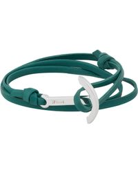 Miansai | Blue Modern Anchor On Leather Wrap Bracelet for Men | Lyst