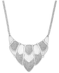 Style & Co. | Metallic Glitter Cut-out Bib Necklace | Lyst