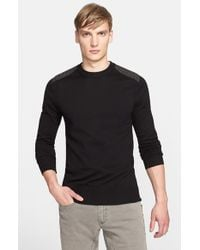 Belstaff - Black 'ridgewell' Cotton Crewneck Sweater for Men - Lyst