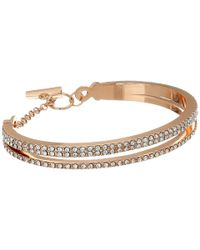 Vince Camuto - Pink Double Band Pave Bracelet - Lyst