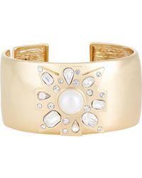 Kenneth Jay Lane | Metallic Women's Maltese Cross Hinged Cuff | Lyst