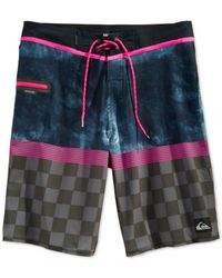 Quiksilver - Black Check Trip Board Shorts for Men - Lyst