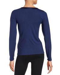 Calvin Klein | Blue Essentials V Neck Pj Top | Lyst