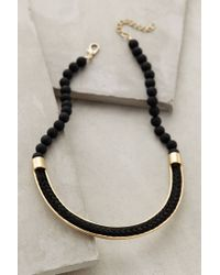 Anthropologie | Black Empress Beaded Necklace | Lyst
