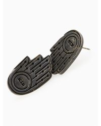 KTZ | Metallic Hand Symbol Earring for Men | Lyst