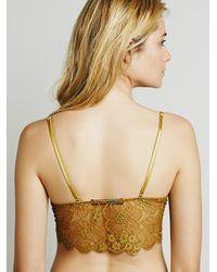 Free People - Metallic Skivvies By For Love & Lemons Womens Honeysuckle Bralette - Lyst