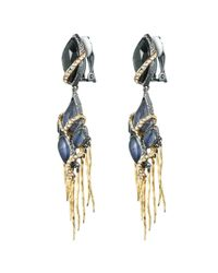 Alexis Bittar - Blue Dark Phoenix Dangling Tassel Clip You Might Also Like - Lyst