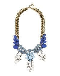 BaubleBar | Blue 'matte Cascade' Bib Necklace - Navy/ Antique Gold | Lyst