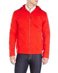 PUMA - Red Ferrari Hooded Sweat Jacket for Men - Lyst