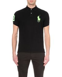 Ralph Lauren | Black Custom-fit Polo Shirt for Men | Lyst
