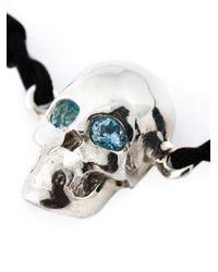 Leivan Kash | Black Topaz Eyes Skull Bracelet | Lyst