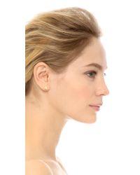 Jennifer Meyer   Metallic Mini Clover Stud Earrings   Lyst