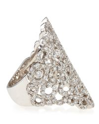 Roberto Coin - White Tapered Mauresque Filigree Diamond Ring - Lyst