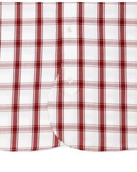 Brooks Brothers - White And Red Large Check Button-down Shirt for Men - Lyst