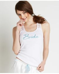 Betsey Johnson | White Bridal Racer Back Lace Tank 736907 | Lyst