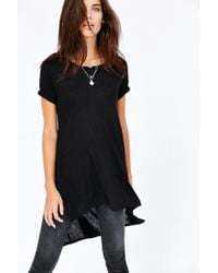 Silence + Noise | Black Tara Side Slit Tee | Lyst