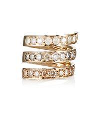 Roberto Marroni - Metallic Mixed-diamond Spiral Ring - Lyst