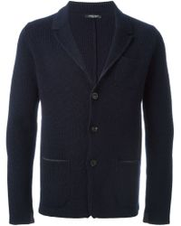 Roberto Collina - Blue Knitted Blazer for Men - Lyst