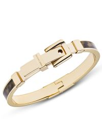 Michael Kors | Metallic Heritage Gold And Tort Acetate Bangle | Lyst