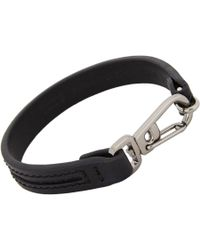 Tod's - Black Leather Crossroad Bracelet for Men - Lyst