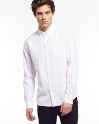 Bellfield | White Long Sleeve Basic Oxford Shirt for Men | Lyst