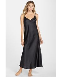 Oscar de la Renta | Black Oscar De La Renta 'tying The Knot' Nightgown | Lyst